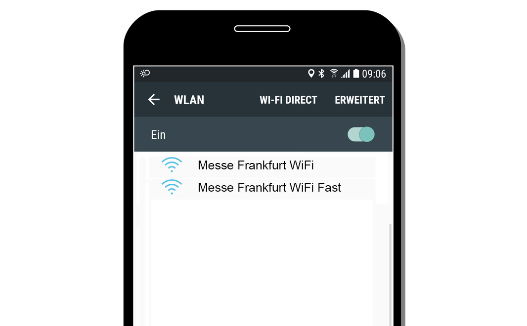 Select WiFi network