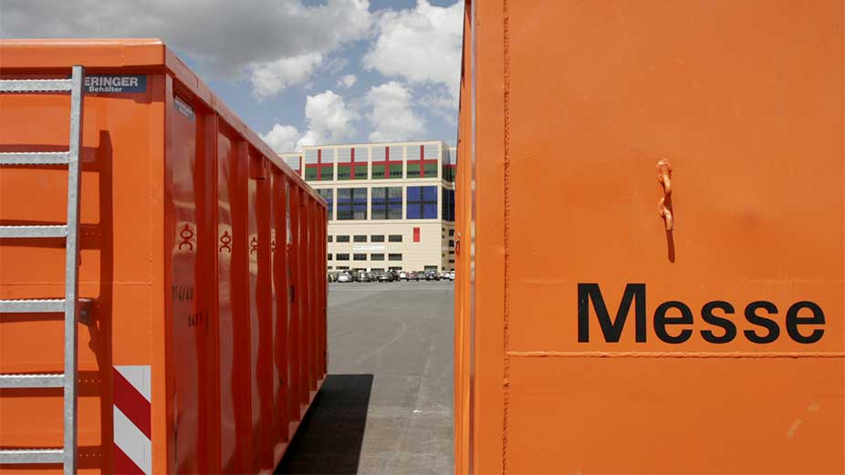 Parking spaces for containers and supplies