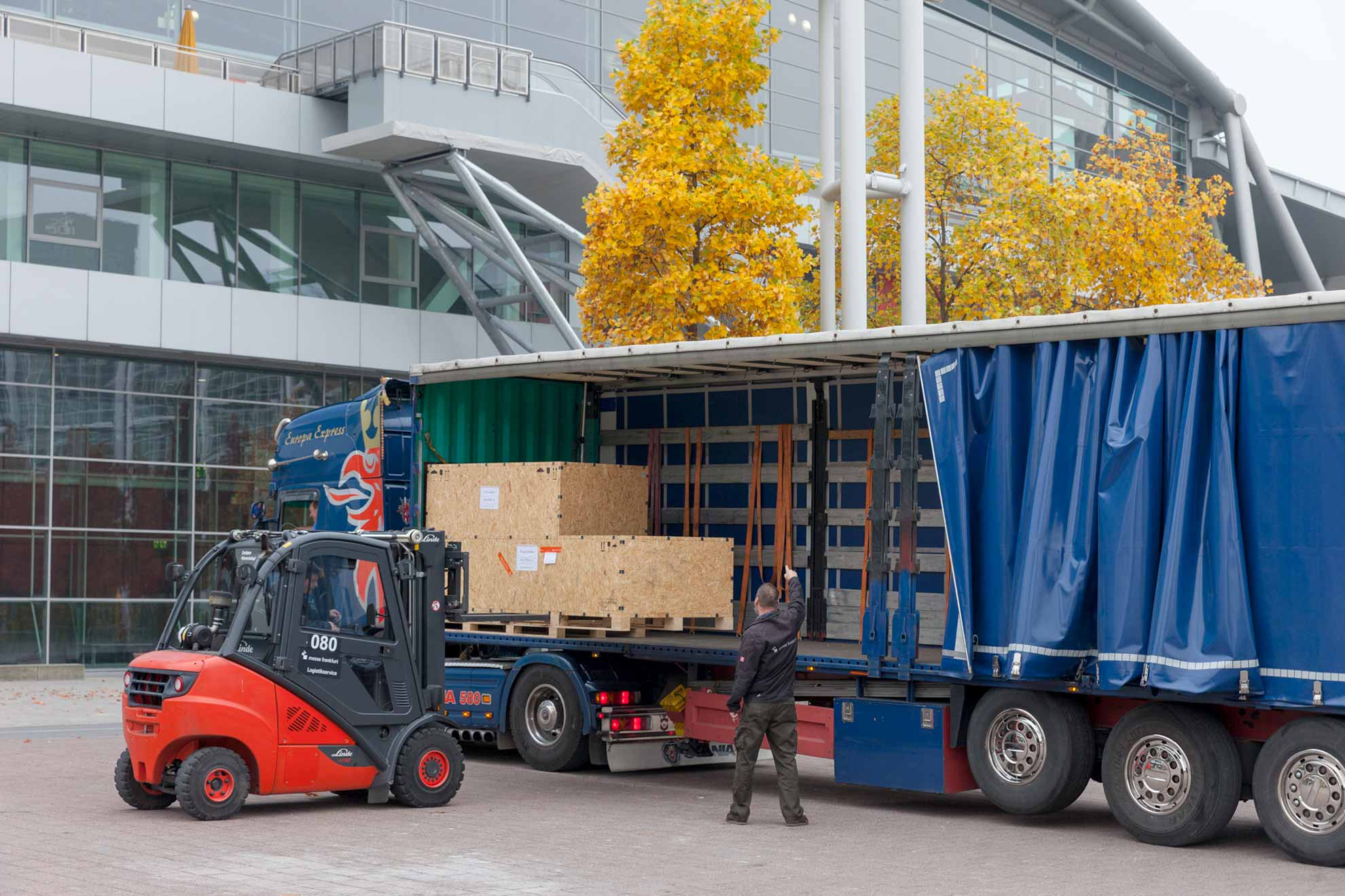 Logistikservices der Messe Frankfurt