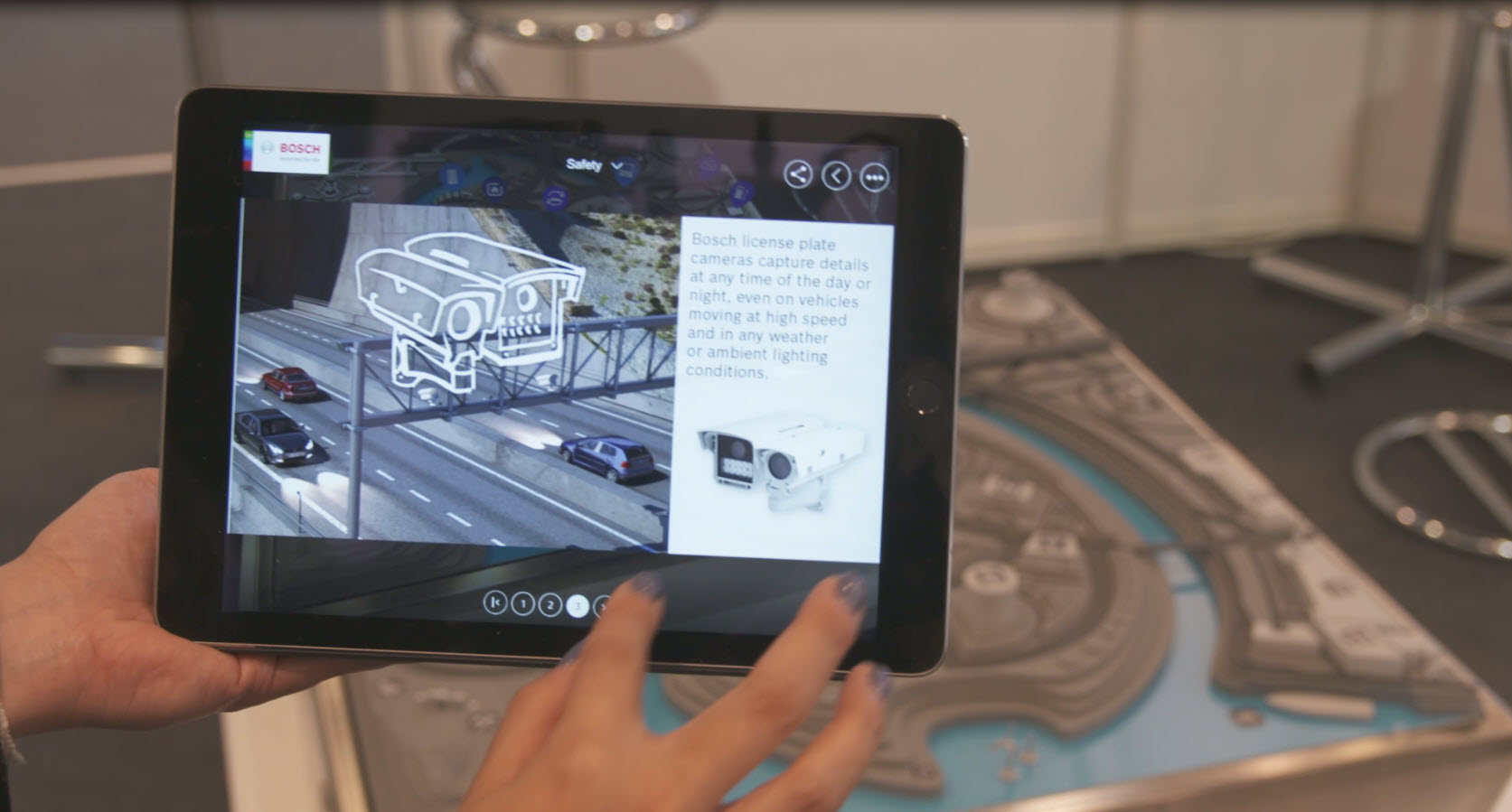 Smartregions Demonstration auf Tablet PC