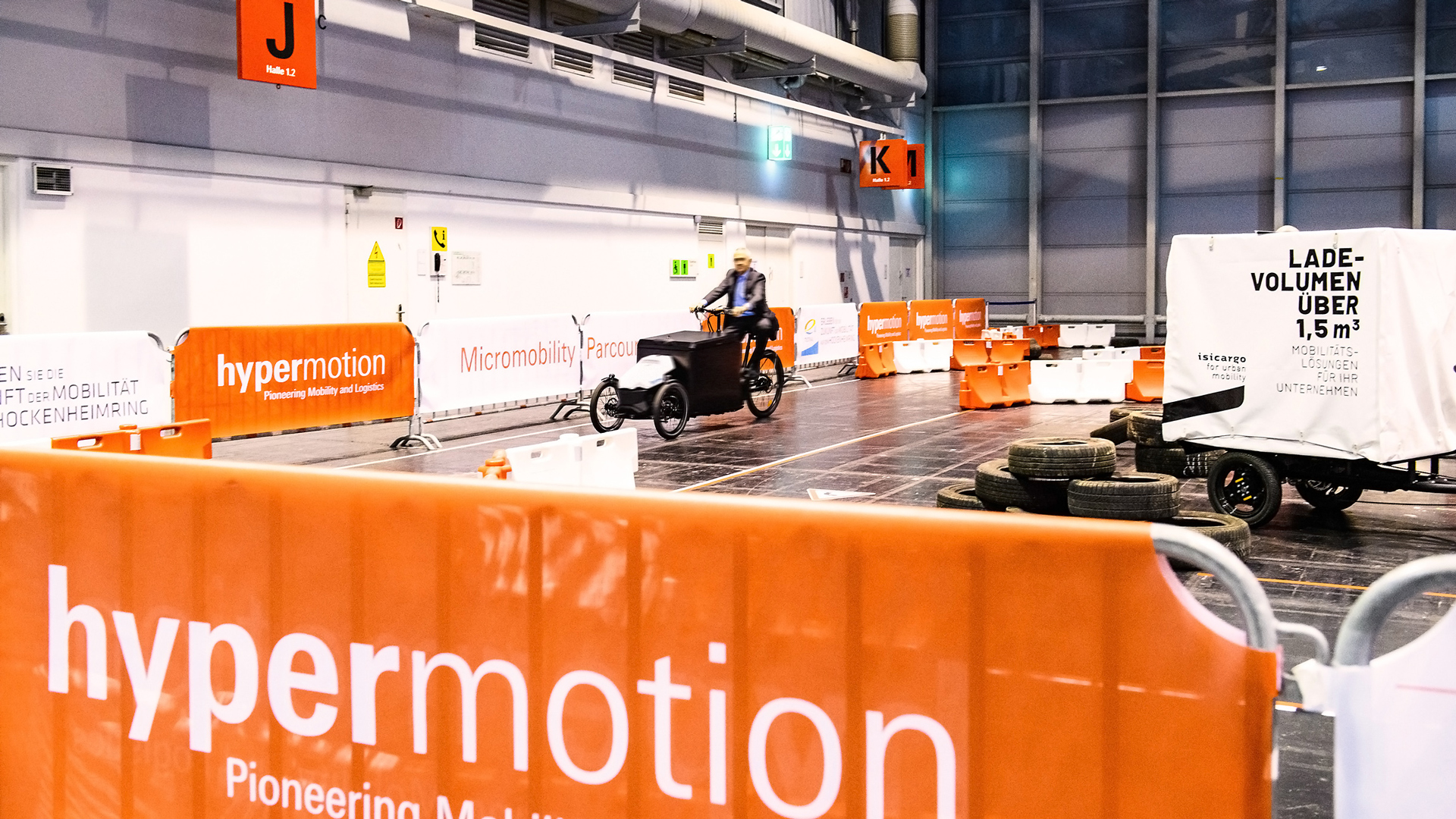 Micro Mobility Parcours auf der Hypermotion