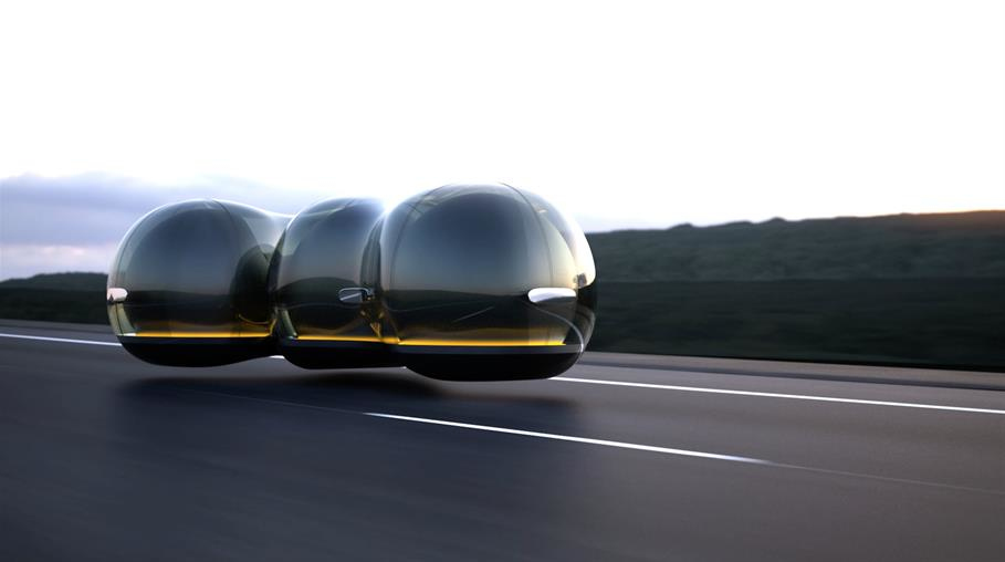 Is this what the mobility of the future looks like? The Float Concept Vehicle, 2017, Design by Yuchen Cai, University of the Arts London for the Renault Car of the Future Contest, France (photo: Cooper Hewitt Press Images/Renault)